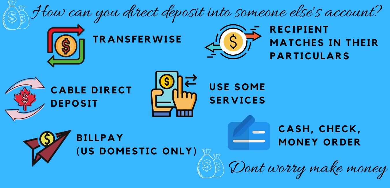 can you direct deposit into someone else's account