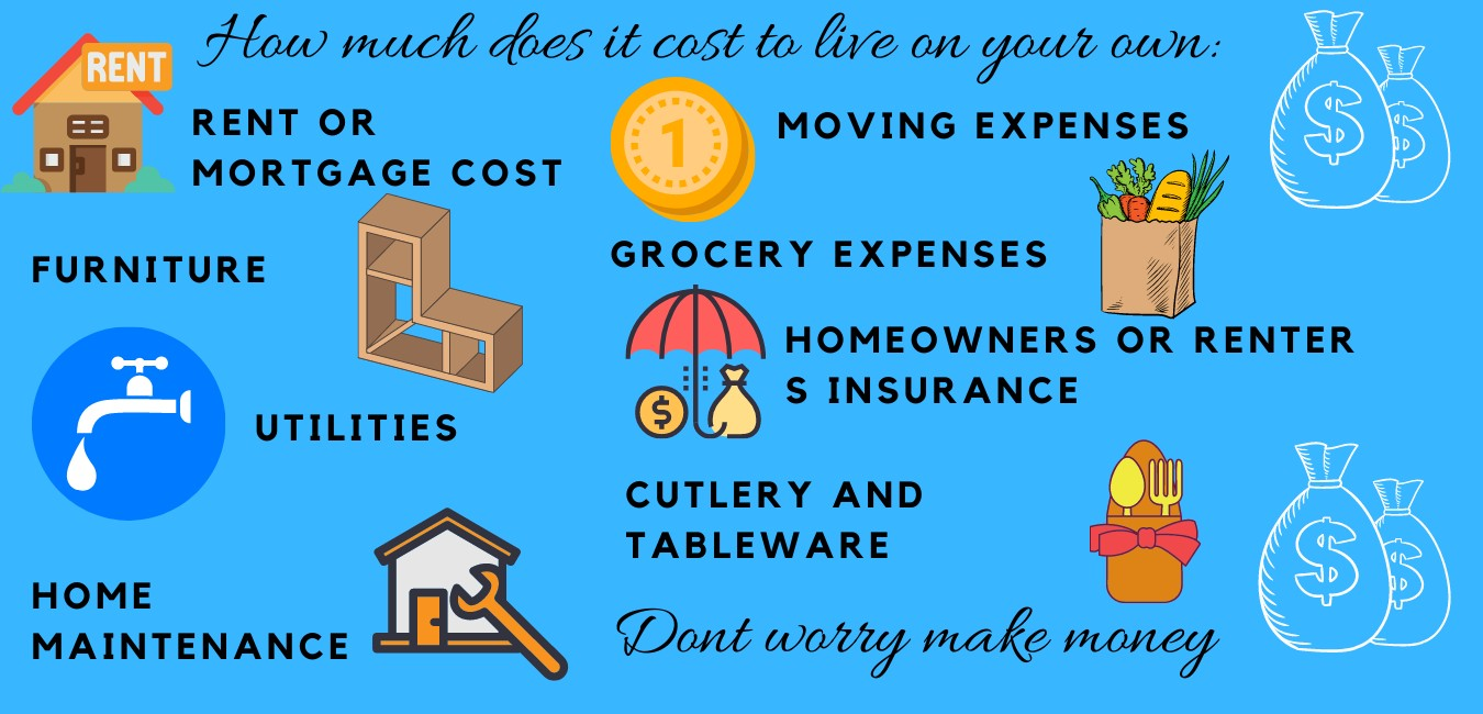 how much does it cost to live on your own