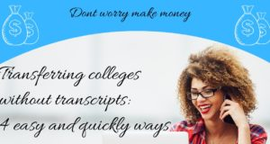 Transferring colleges without transcripts: community college