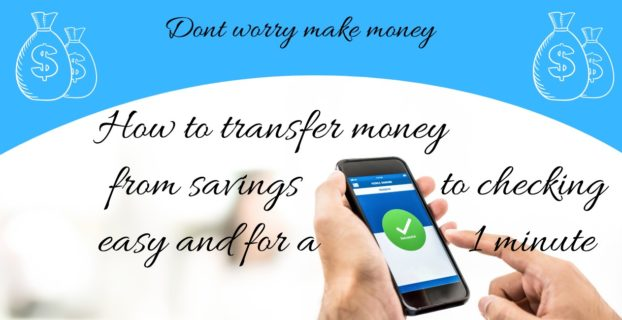how to transfer money from savings to checking